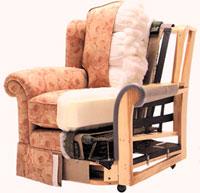 Обивка кресла и наполнитель