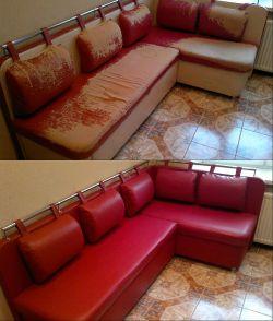 Красный кухонный уголок