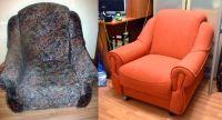 Кресла до и после обивки