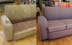 Обивка дивана-книжки