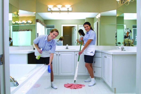 Уборка ванной в коттедже