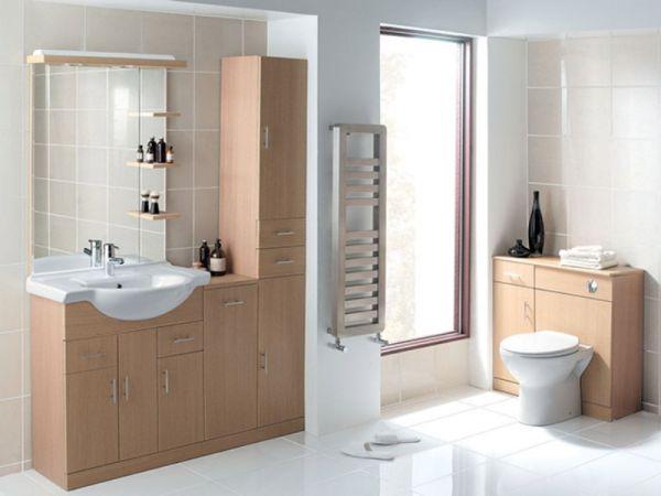 Тумбочки, шкафчики, зеркало в ванной комнате