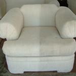 Кресло до и после химчистки